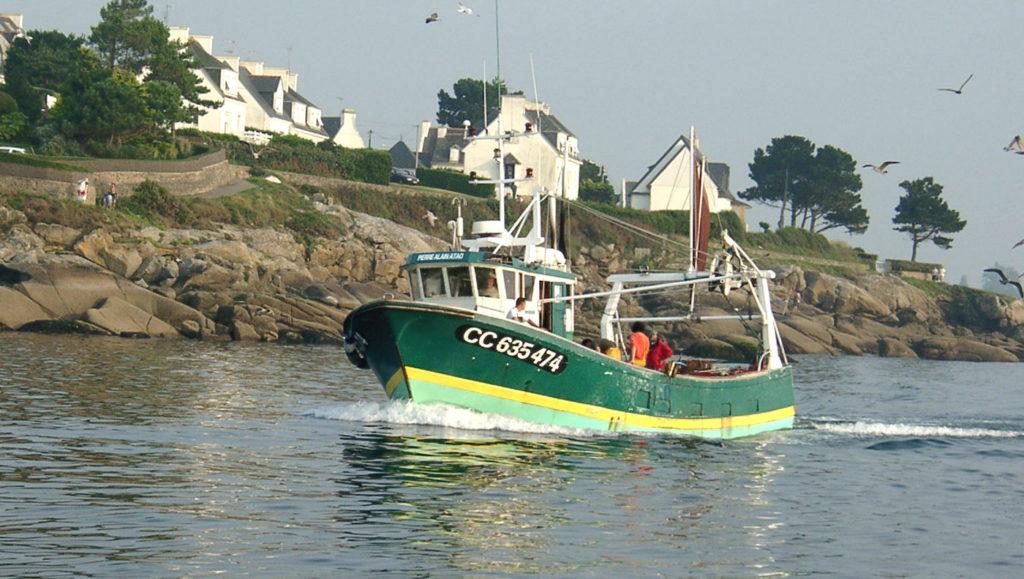 montage pêche en mer bateau