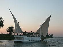 bateau sur le nil égypte