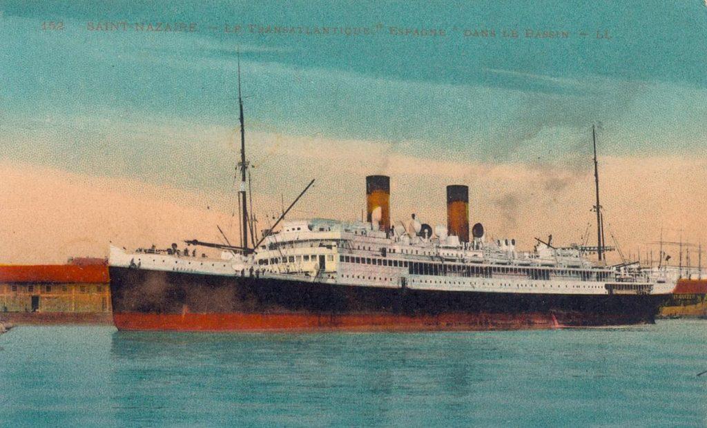 bateau coule en 1915