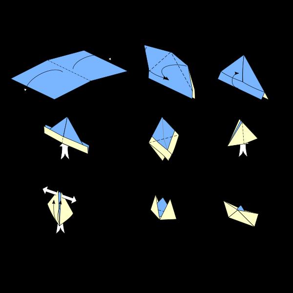 bateau en papier pliage facile