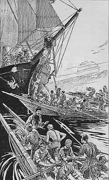 les bateaux des pirates