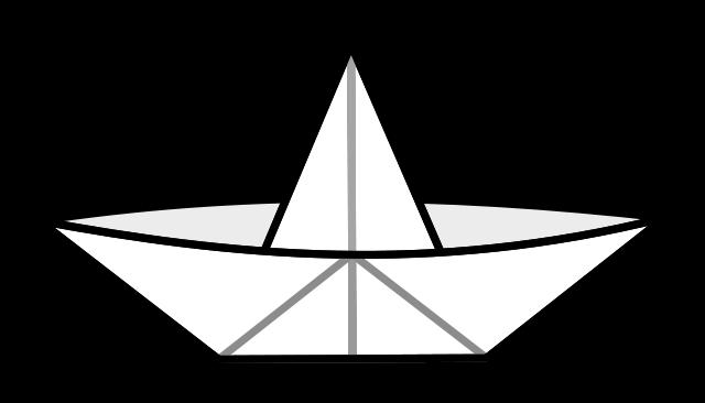 bateau en papier origami
